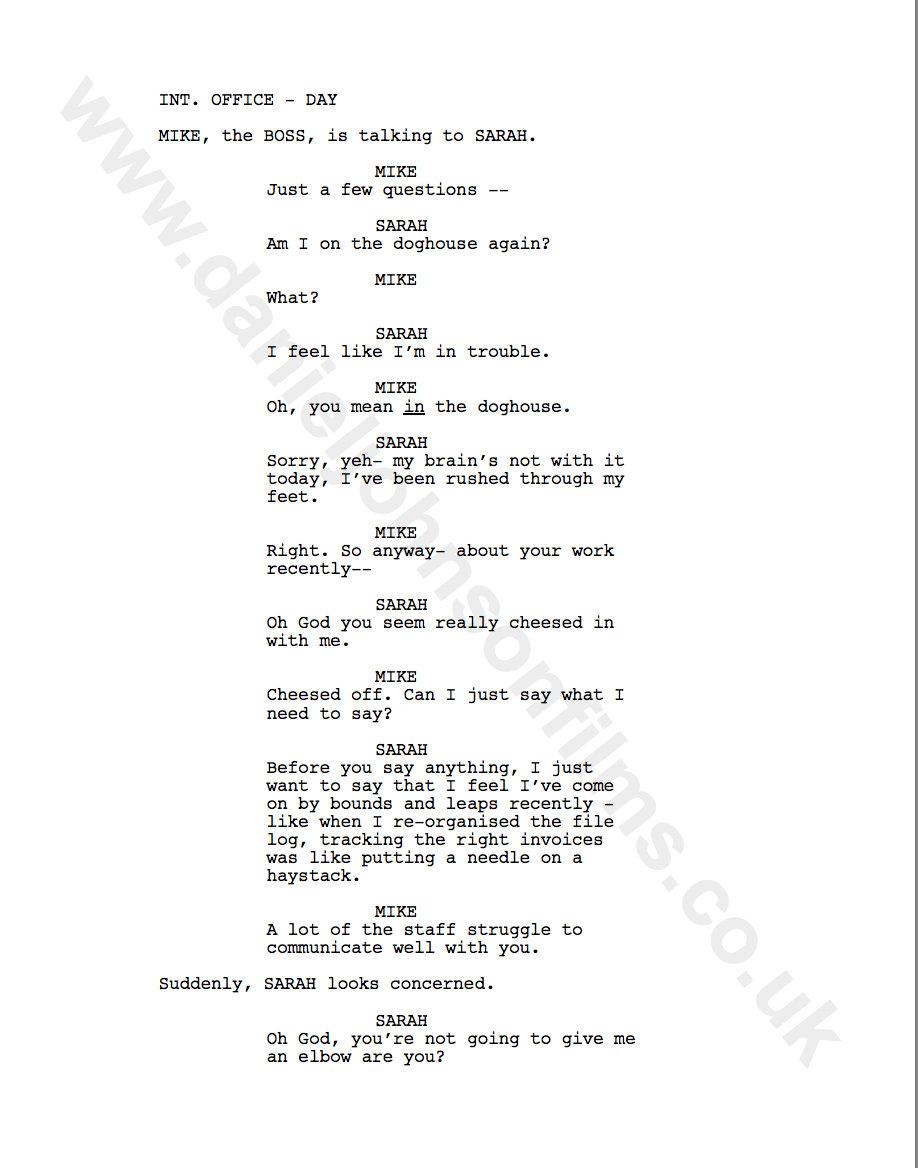 Showreel Script Ideas - Daniel Johnson Films
