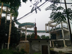 The main waterslide.