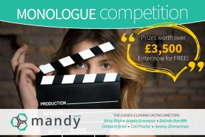 Prize for EMERGING ACTOR WINNER at Mandy Monologue Competition