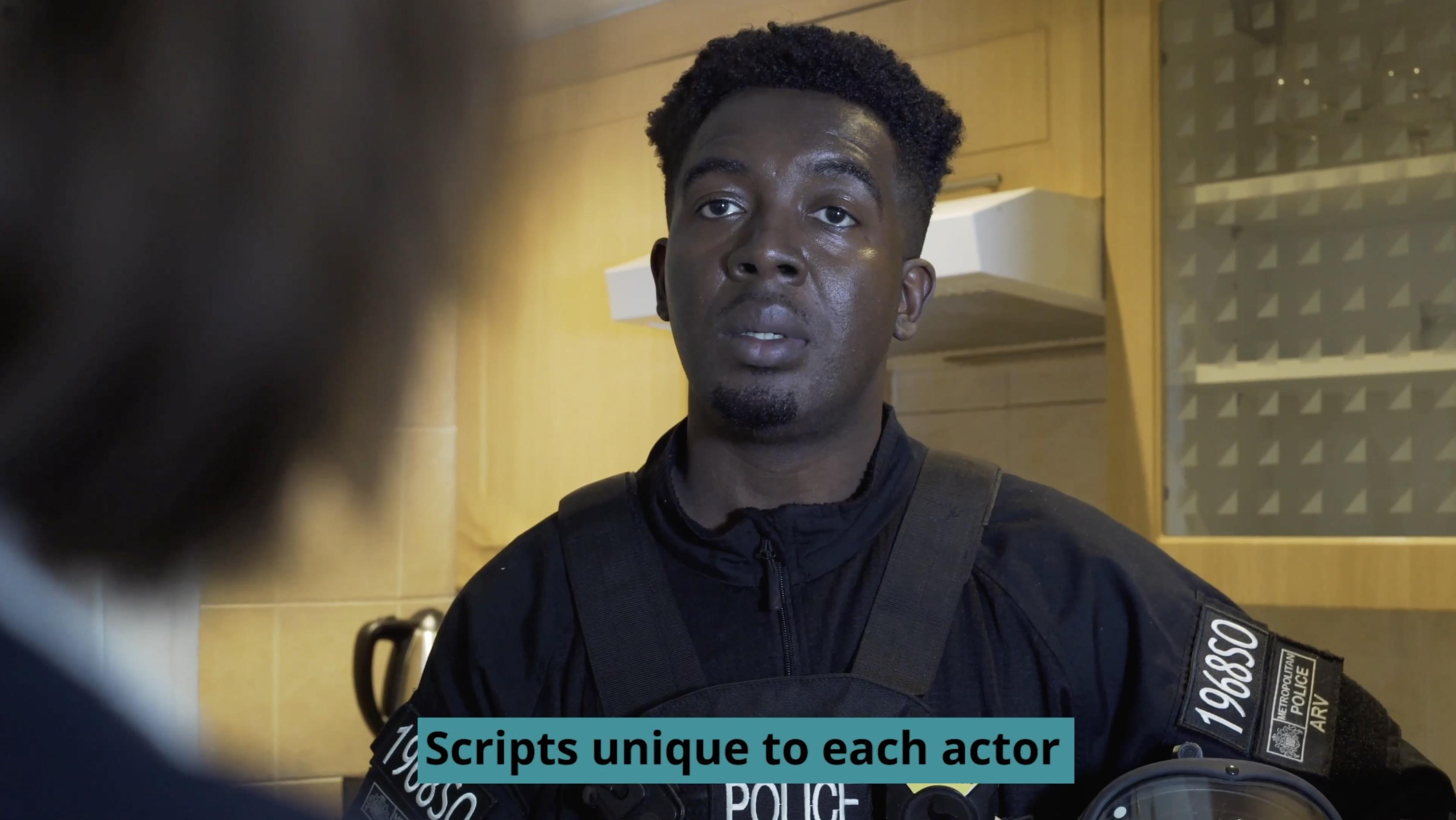 Screenshot of a showreel from scratch scene